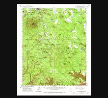 USGS TOPO Map Arizona AZ Bill Williams Mtn 314375 1962 62500 Unisex T-Shirt
