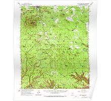 USGS TOPO Map Arizona AZ Bill Williams Mtn 314375 1962 62500 Poster