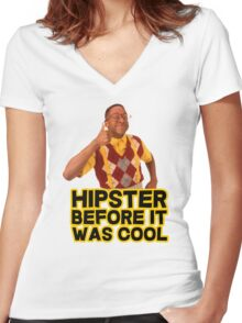 Steve Urkel - Hipster before it was cool Women's Fitted V-Neck T-Shirt