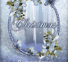 Winter Ice Christmas Wishes Greeting Card by Moonlake
