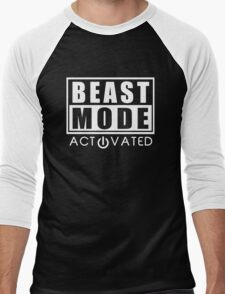 Beast Mode Bodybuilding Men's Baseball ¾ T-Shirt