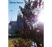 sagrada familia gaudi barcelona snoopy Photographic Print