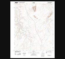 USGS TOPO Map Arizona AZ LeChee Rock 20111027 TM Unisex T-Shirt