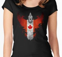 The Painting Art Of Canada Women's Fitted Scoop T-Shirt