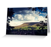 Pendle Hill, Lancashire Greeting Card