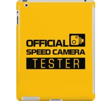 OFFICIAL SPEED CAMERA TESTER (2) iPad Case/Skin