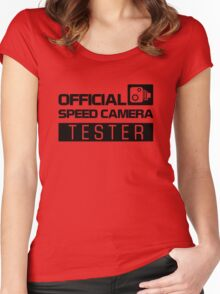 OFFICIAL SPEED CAMERA TESTER (2) Women's Fitted Scoop T-Shirt