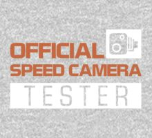 OFFICIAL SPEED CAMERA TESTER (3) One Piece - Long Sleeve