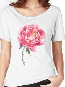 Watercolor peony Women's Relaxed Fit T-Shirt