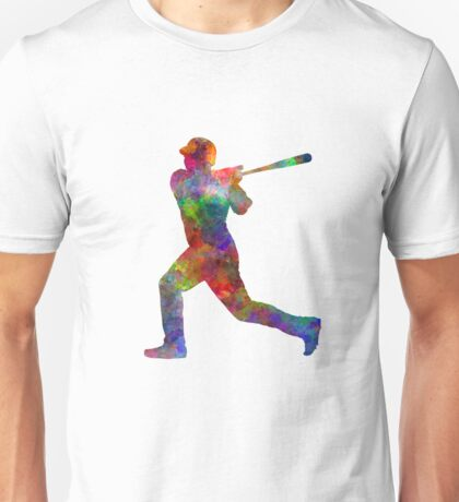 Baseball player hitting a ball Unisex T-Shirt