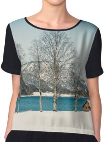 Achensee Lake Austria Chiffon Top