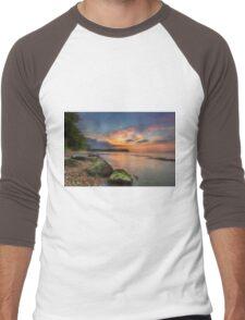 Fishbourne Beach Sunset Men's Baseball ¾ T-Shirt