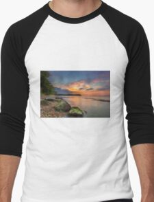Fishbourne Beach Sunset Men's Baseball ¾ T-Shirt