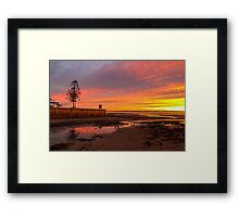 Wellington Point Queensland (sunse Framed Print