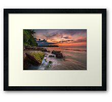 Rocky Beach Sunset Framed Print