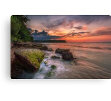 Rocky Beach Sunset Canvas Print