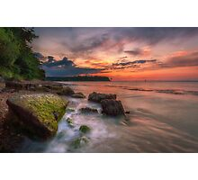 Rocky Beach Sunset Photographic Print