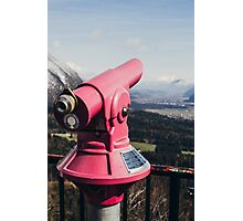 Pink Mountain Telescope Photographic Print