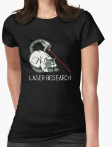 Cat Laser Womens Fitted T-Shirt
