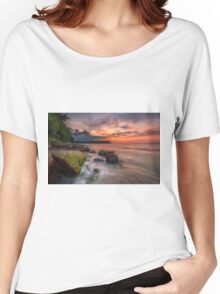 Rocky Beach Sunset Women's Relaxed Fit T-Shirt