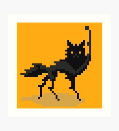Canis Lupus (Pixel-art) Art Print