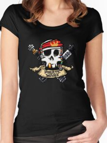 Pirate War Women's Fitted Scoop T-Shirt