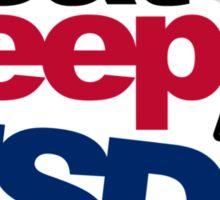 EAT SLEEP USDM (3) Sticker
