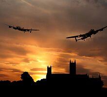 Lincolnshire Lancasters  by J Biggadike