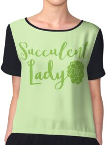 Succulent lady Chiffon Top