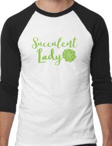 Succulent lady Men's Baseball ¾ T-Shirt