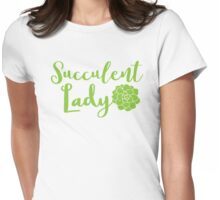 Succulent lady Womens Fitted T-Shirt