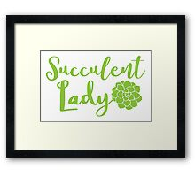 Succulent lady Framed Print