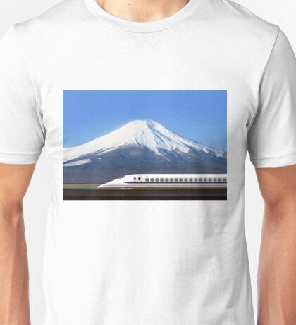 Mount Fuji and Tokaido Shinkansen, Shizuoka, Japan Unisex T-Shirt
