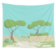 Wine under the trees Wall Tapestry