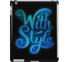 With Style! 3D Typography iPad Case/Skin