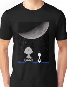 snoopy and charlie night sky Unisex T-Shirt