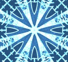 Ice and Blue Snowflake Design Sticker