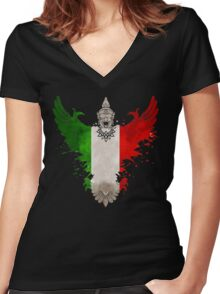 The Art Painting Of Italy Women's Fitted V-Neck T-Shirt