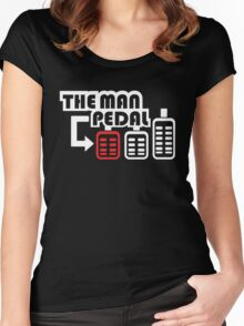 The Man Pedal (1) Women's Fitted Scoop T-Shirt