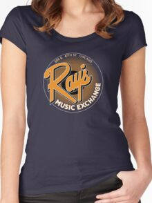 Ray's Music Exchange - Orange Variant Women's Fitted Scoop T-Shirt