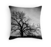 The Creepy Tree Throw Pillow
