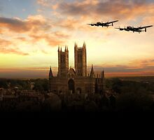 Lancs over Lincoln  by J Biggadike