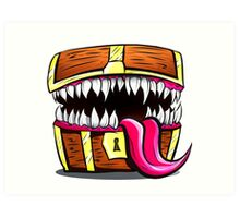 Mimic Chest - Dungeons & Dragons Monster Loot Art Print