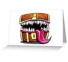 Mimic Chest - Dungeons & Dragons Monster Loot Greeting Card