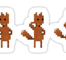 Pixel Art Indie Game Dancing Swag Fox :3 Sticker
