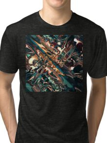 Melting Copper Abstract  Tri-blend T-Shirt