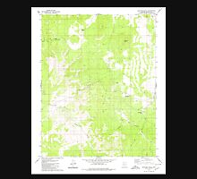 USGS TOPO Map Arizona AZ Mustang Knoll 312573 1979 24000 Unisex T-Shirt