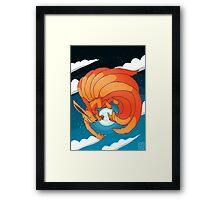 Nine Tailed Fox Framed Print
