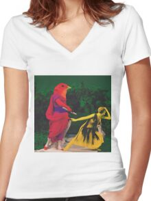 Thine Love Denied Women's Fitted V-Neck T-Shirt