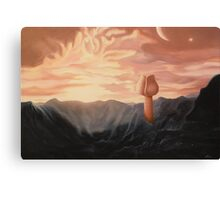 Rose in galaxy Canvas Print